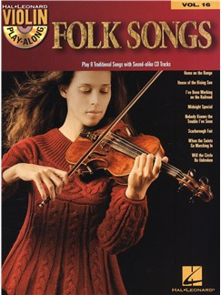 Violin Play-Along Volume 16: Folk Songs Books and CDs | Violin