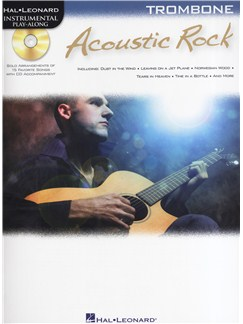 Instrumental Play-Along: Acoustic Rock (Trombone) Books and CDs | Trombone