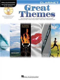 Clarinet Play-Along: Great Themes Books and CDs | Clarinet