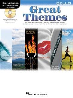 Cello Play-Along: Great Themes CD et Livre | Violoncelle