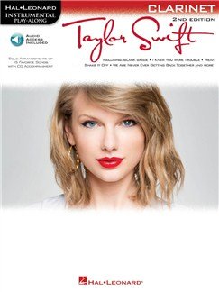 Instrumental Play-Along: Taylor Swift (Clarinet) (Book/Online Audio) Books and Digital Audio | Clarinet