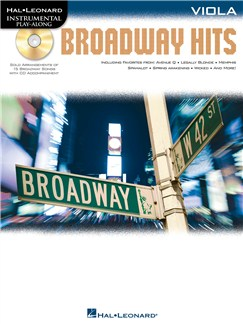 Viola Play-Along: Broadway Hits Books and CDs | Viola