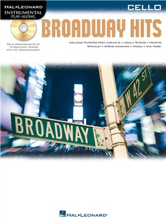 Cello Play-Along: Broadway Hits Books and CDs | Cello