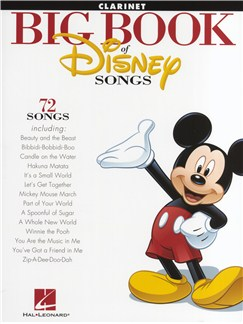 The Big Book Of Disney Songs: Clarinet Livre | Clarinette
