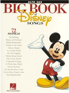The Big Book Of Disney Songs - Alto Saxophone Livre | Saxophone Alto