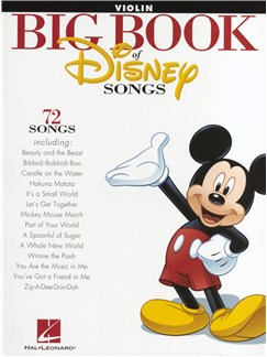 The Big Book Of Disney Songs - Violin Livre | Violon