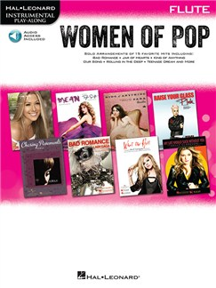 Hal Leonard Instrumental Play-Along: Women of Pop - Flute (Book/Online Audio) Books and Digital Audio | Flute