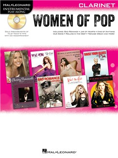 Hal Leonard Instrumental Play-Along: Women of Pop - Clarinet Books and CDs | Clarinet