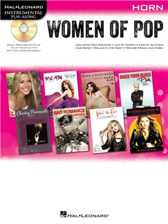 Hal Leonard Instrumental Play-Along: Women of Pop - Horn Books and CDs | French Horn