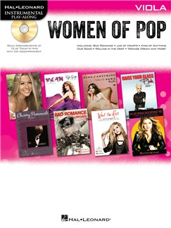 Hal Leonard Instrumental Play-Along: Women of Pop - Viola Books and CDs | Viola
