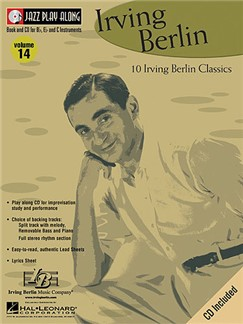 Jazz Play Along: Volume 14 - Irving Berlin Books and CDs | B Flat Instruments, C Instruments, E Flat Instruments