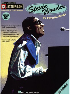 Jazz Play Along Volume 52: Stevie Wonder CD et Livre | Instruments À Bb, Instruments À Eb, Instruments À C