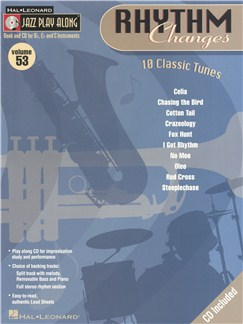Jazz Play-Along Volume 53: Rhythm Changes Books and CDs | B Flat Instruments, E Flat Instruments, C Instruments