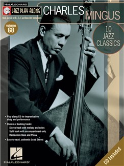 Jazz Play Along: Volume 68 - Charles Mingus Books and CDs | E Flat Instruments, B Flat Instruments, C Instruments