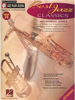 Jazz Play-Along Volume 74: Best Jazz Classics Books and CDs | All Instruments