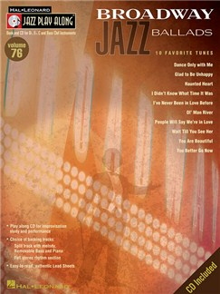 Jazz Play-Along Volume 76: Broadway Jazz Ballads (Book/CD) Books and CDs | B Flat Instruments, E Flat Instruments, C Instruments, Bass Clef Instruments