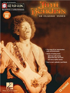 Jazz Play Along: Volume 80 - Jimi Hendrix Books and CDs | All Instruments