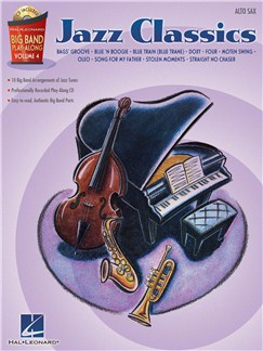 Big Band Play-Along Volume 4 - Jazz Classics (Alto Saxophone) Books and CDs | Alto Saxophone