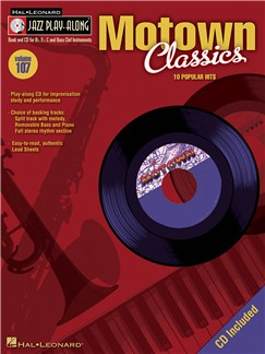 Jazz Play-Along Volume 107: Motown Classics Books and CDs | Bass Clef Instruments, B Flat Instruments, C Instruments, E Flat Instruments