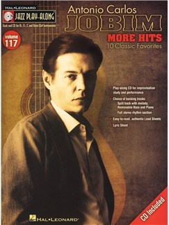 Jazz Play-Along Volume 117: Antonio Carlos Jobim - More Hits Books and CDs | C Instruments, E Flat Instruments, B Flat Instruments, Bass Clef Instruments