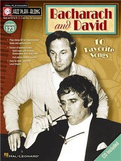 Bacharach And David Jazz Play Along Volume 123 Book/CD Books and CDs |