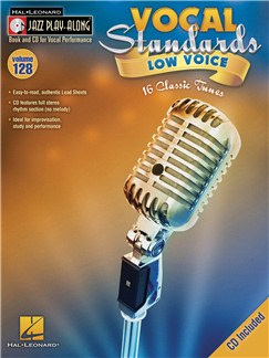 Jazz Play-Along Volume 128: Vocal Standards (Low Voice) Books and CDs | Low Voice