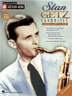 Jazz Play-Along Volume 133: Stan Getz Favorites Books and CDs | Bass Clef Instruments, B Flat Instruments, C Instruments, E Flat Instruments