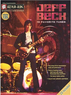 Jazz Play-Along Volume 135: Jeff Beck Books and CDs | B Flat Instruments, E Flat Instruments, C Instruments, Bass Clef Instruments