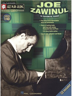 Jazz Play-Along Volume 140: Joe Zawinul Books and CDs | B Flat Instruments, E Flat Instruments, Bass Clef Instruments, C Instruments
