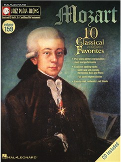 Jazz Play-Along Volume 159: Mozart Books and CDs | E Flat Instruments, B Flat Instruments, C Instruments, Bass Clef Instruments