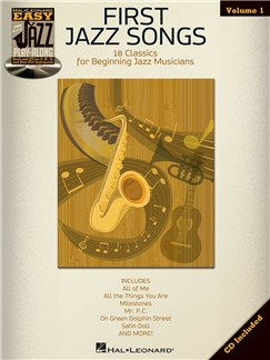 Easy Jazz Play-Along Volume 1: First Jazz Songs Books and CDs | B Flat Instruments, E Flat Instruments, C Instruments, Bass Clef Instruments
