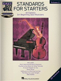 Easy Jazz Play-Along Volume 2: Standards For Starters Books and CDs | Bass Clef Instruments, B Flat Instruments, E Flat Instruments, C Instruments