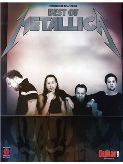 Best Of Metallica (Transcribed Scores) Books | Band Score