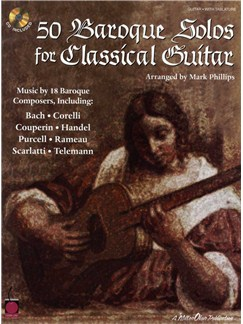 50 Baroque Solos For Classical Guitar Books and CDs | Guitar Tab, Classical Guitar