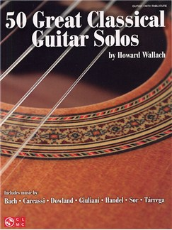 50 Great Classical Guitar Solos Livre | Tablature Guitare, Guitare Classique