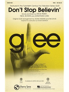 Journey: Don't Stop Believin' (Glee) - SSA Books | SSA, Piano Accompaniment
