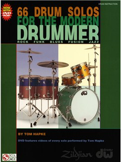 Tom Hapke: 66 Drum Solos For The Modern Drummer Books and DVDs / Videos | Drums