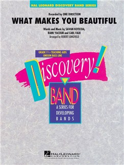 One Direction: What Makes You Beautiful - Discovery Concert Band Books | Big Band & Concert Band