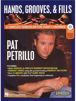 Pat Petrillo: Hands Grooves And Fills (Book/DVD) DVDs / Videos y Libro | Batería