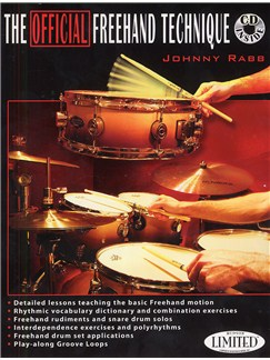Johnny Rabb: The Official Freehand Technique (Book And CD) Books and CDs | Drums
