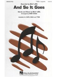 Billy Joel: And So It Goes (TTBB) Books | TTBB