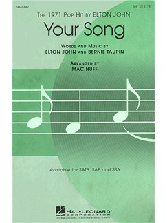 Elton John: Your Song (SAB) Books | SAB, Piano Accompaniment