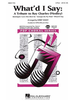 What'd I Say - A Tribute to Ray Charles (2-Part) Books | 2-Part Choir, Piano Accompaniment