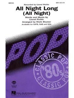 Lionel Richie: All Night Long (SATB) Books | SATB, Piano Accompaniment