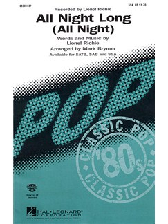 Lionel Richie: All Night Long (SSA) Books | SSA, Piano Accompaniment