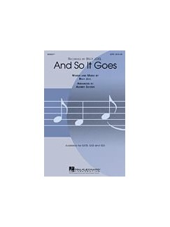 Billy Joel: And So It Goes (SAB) Books | SAB