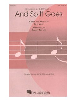 Billy Joel: And So It Goes (SSA) Books | SSA