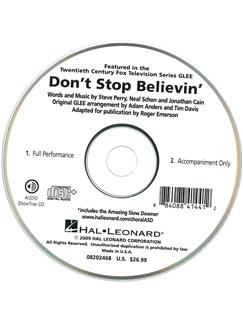 Journey: Don't Stop Believin' (Glee) (ShowTrax CD) CDs | Choral