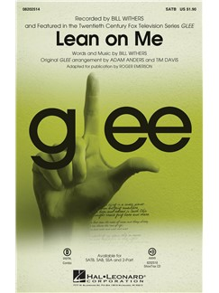 Bill Withers: Lean On Me (Glee) - SATB Books | SATB, Piano Accompaniment