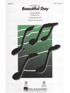 U2: Beautiful Day (SAB) Books   SAB, Piano Accompaniment